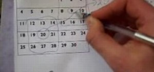 Magic trick on a calendar