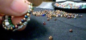 Make a mailin bail with beads