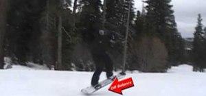 Pop an ollie on a snowboard for beginners