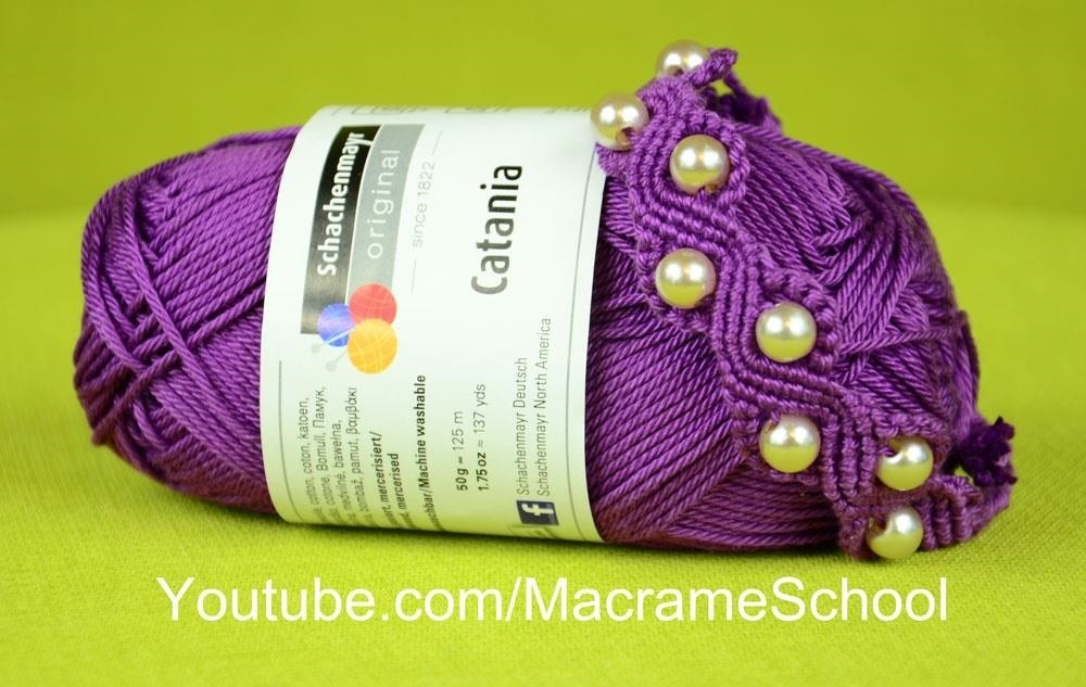 How to Make a SNAKE or a WAVE Macrame Bracelet with Beads