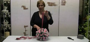Make a silk flower pomander ball