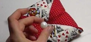 Make a pin cushion for sewing