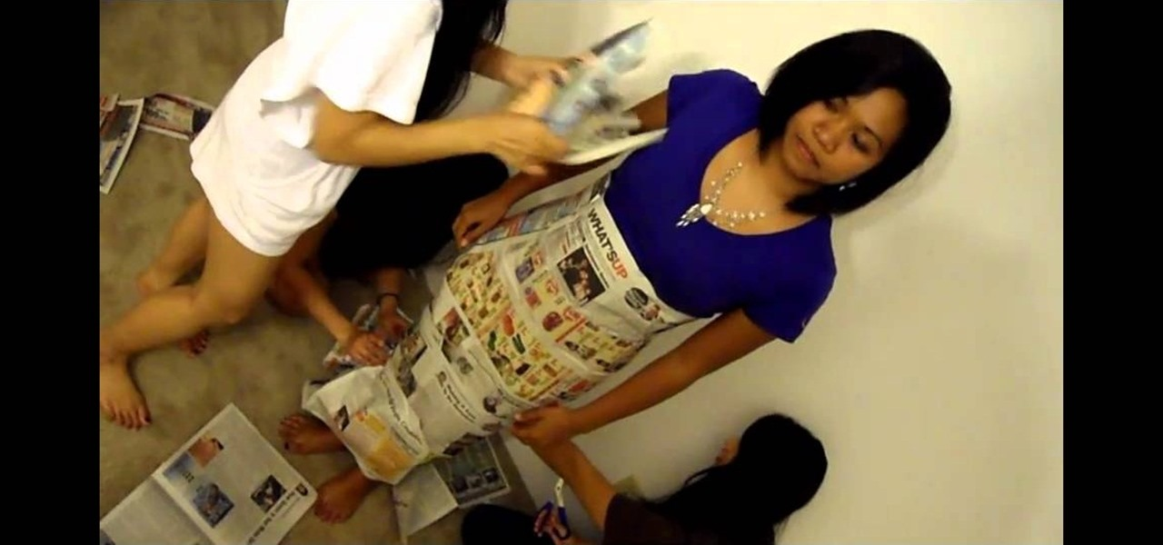 How To Make A Mermaid Wedding Dress Out Of Newspapers