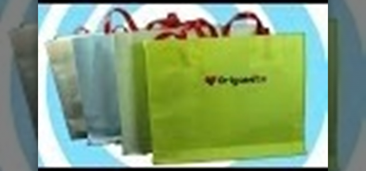 how to make a paper origami gift bag with own logo design