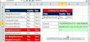 Count rows that meet three criteria in Microsoft Excel