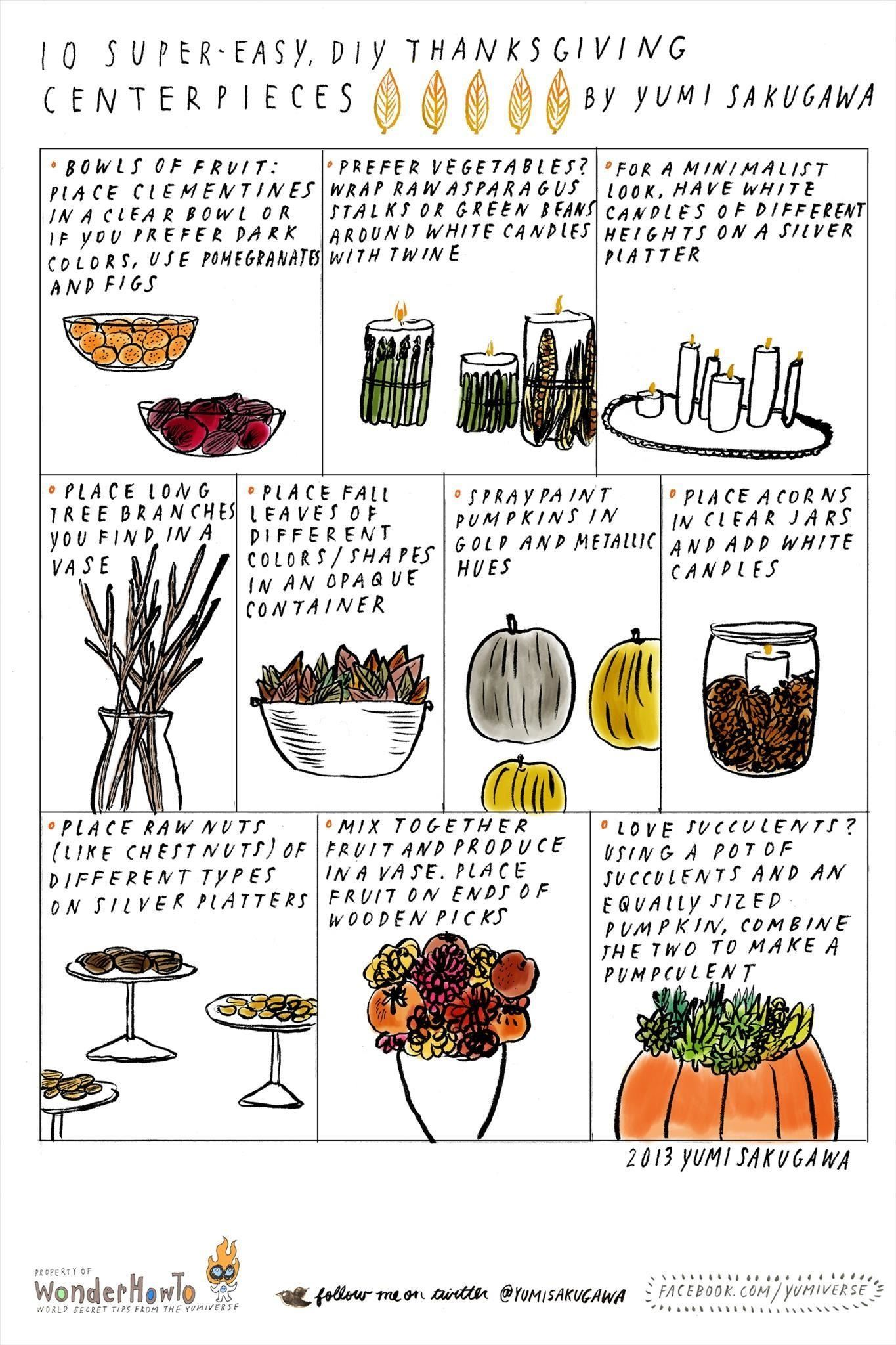 10 Beautiful, Easy-to-Make Centerpieces for Thanksgiving Dinner