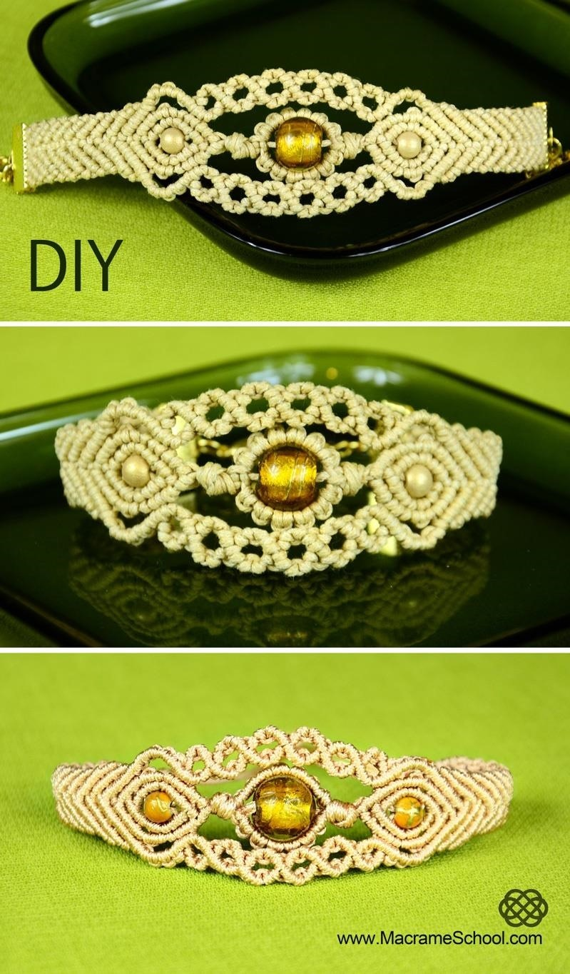 Sun in the Sea - Macrame Bracelet Tutorial