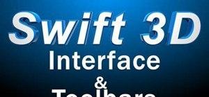 Navigate the Swift 3D v6 user interface