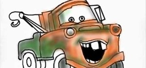 Draw Mater from the Cars movie