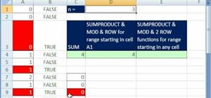 Sum every nth value in Excel with SUMPRODUCT