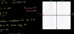 Find the asymptote of a rational function in algebra