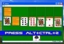 Hack Windows solitaire