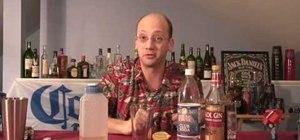 Mix a sloe gin fizz