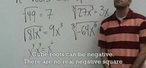 Understand nth roots and operations on radicals