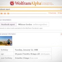 Wolfram Alpha's Facebook Report Analyzes Every Dark Corner of Your Facebook Activity