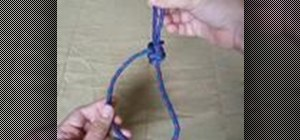 Tie a variation of the double bowline knot
