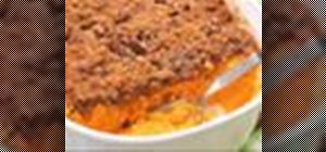 Make a sweet potato crunch casserole dish with pecan-brown sugar topping