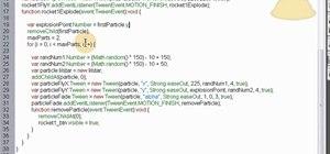 Script a randomized fireworks effect in Fireworks using Action Script