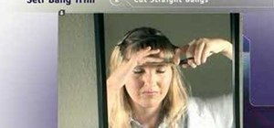 Trim your own bangs at home