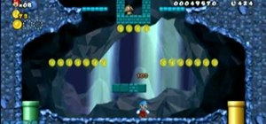 Collect all three Star Coins in New Super Mario Bros Wii World 1-2