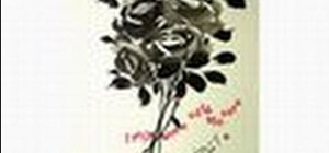 Draw a rose with sumi-e ink