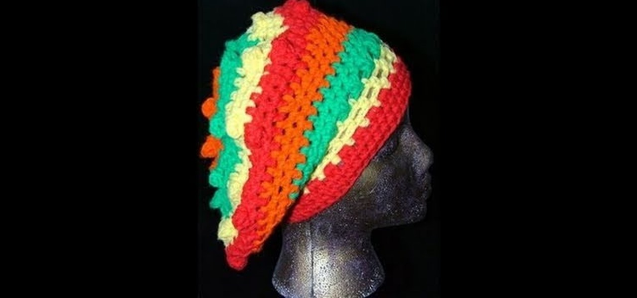 How To Crochet A Reggae Rasta Style Slouchy Hat Knitting Crochet