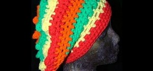 Crochet a reggae rasta style slouchy hat