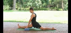 Perform the frontal splits in yoga