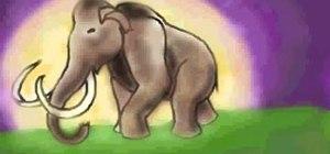 Draw a woolly mammoth