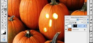 Create a jack o'lantern with a pumpkin in Photoshop