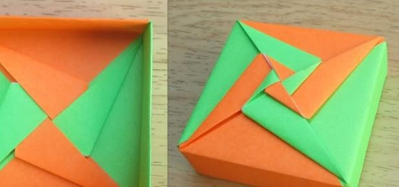 how to make an origami square box lid tomoko fuse