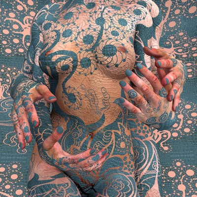 Kim Joon's Naked Body Art (Possibly NSFW)