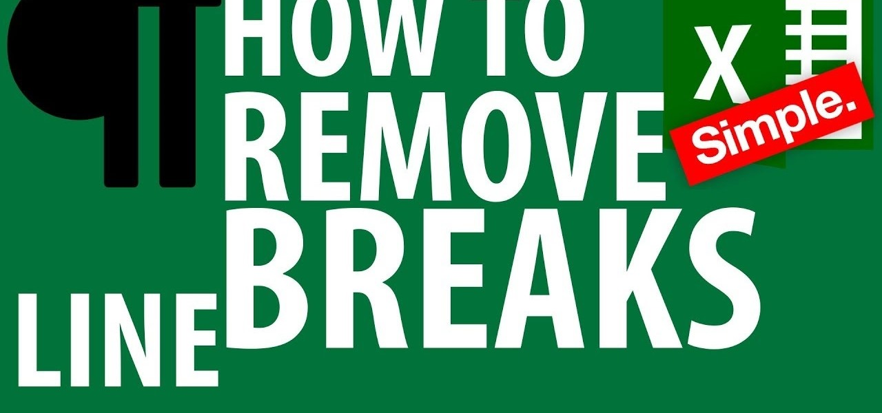How to Remove Line Breaks in Excel « Microsoft Office :: WonderHowTo