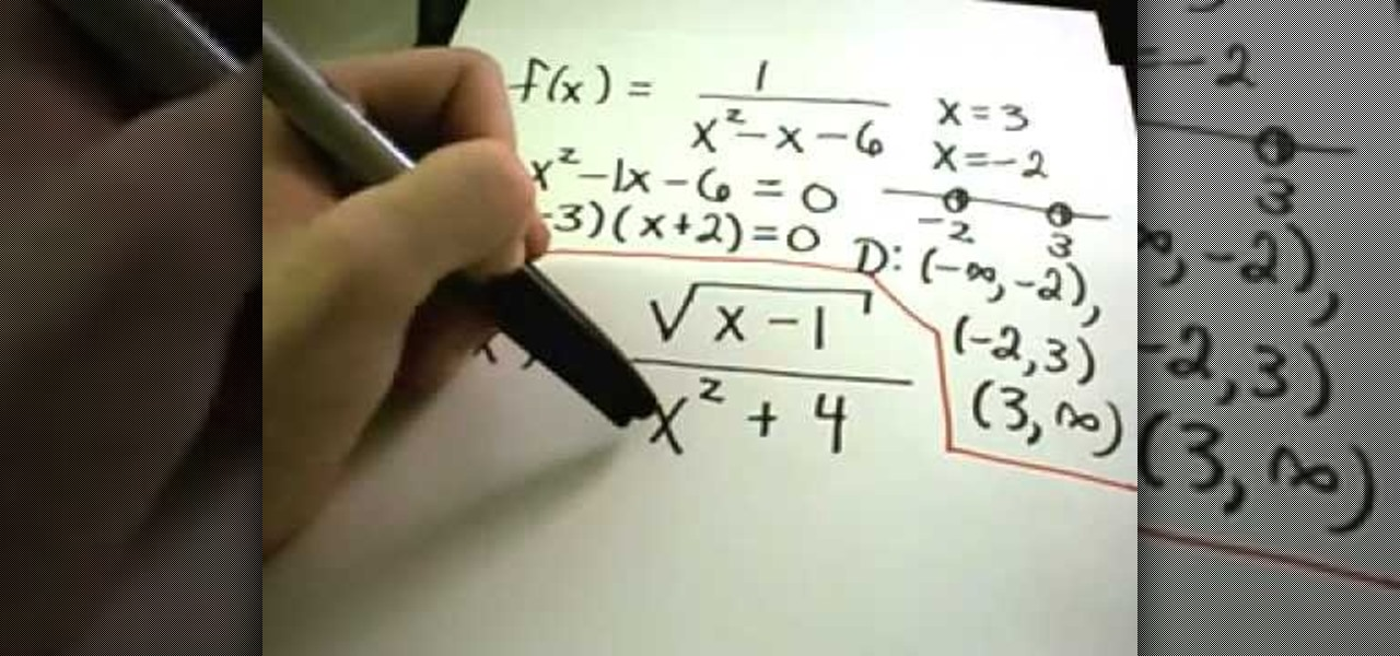 How to Find the domain of a function without graphing « Math ...