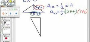 Derive the basic area of a triangle