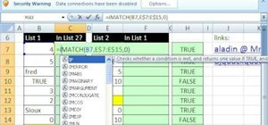 Determine whether a given item in a list in MS Excel