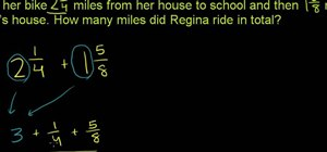 Solve a word problem that requires you to add two or more mixed numbers