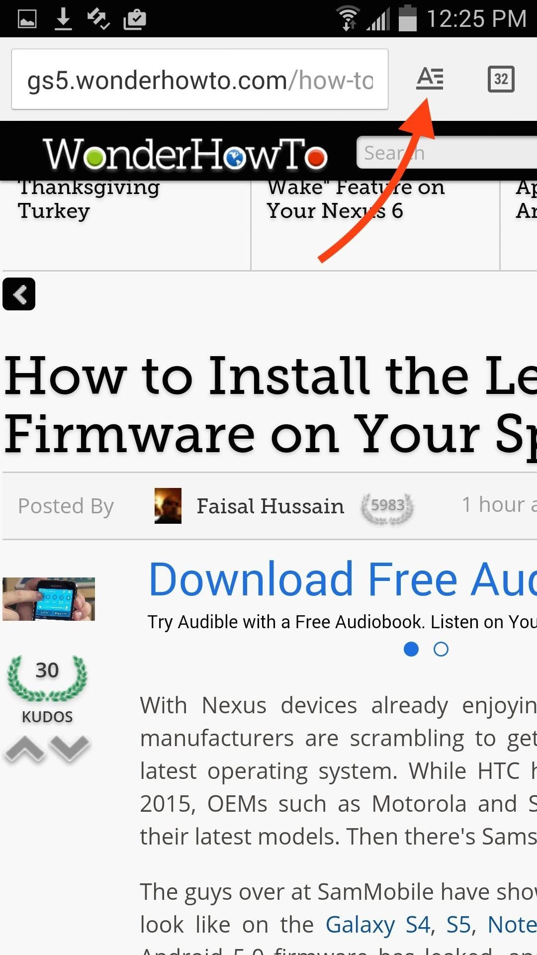 """Enable Chrome's Hidden """"Reader Mode"""" on Your Android"""