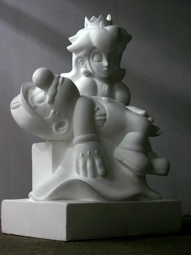 Princess Peach Poses as Mother of God