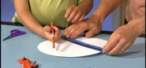 Make a paper color spinner with Crayola