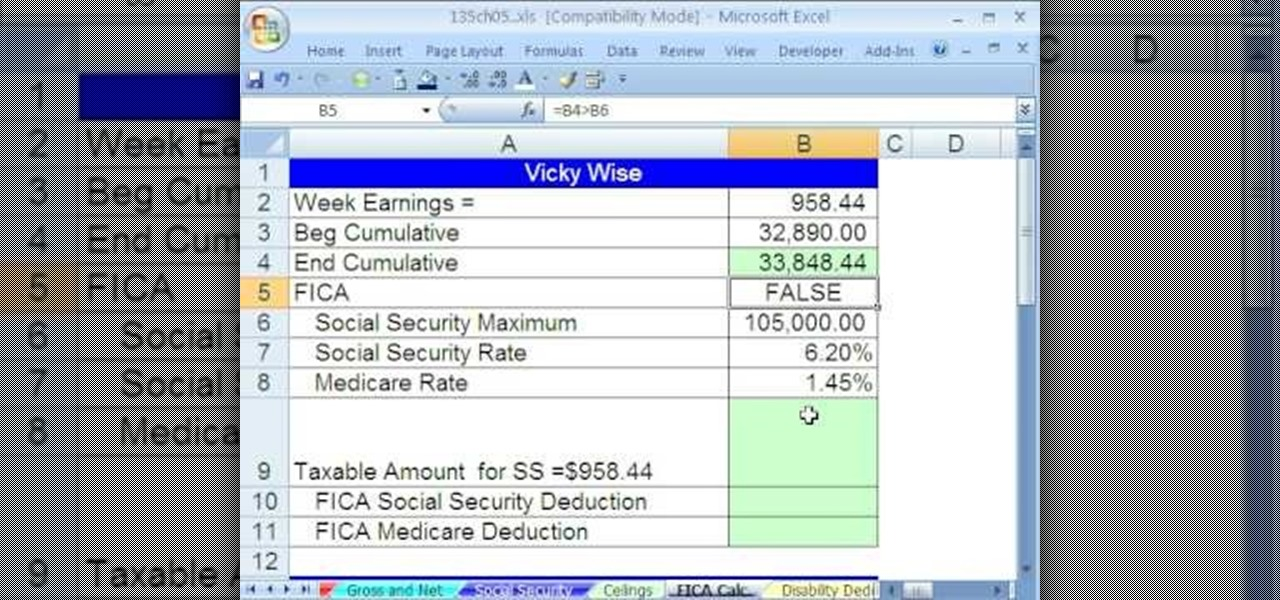 How to Calculate payroll deductions given a hurdle in Excel ...