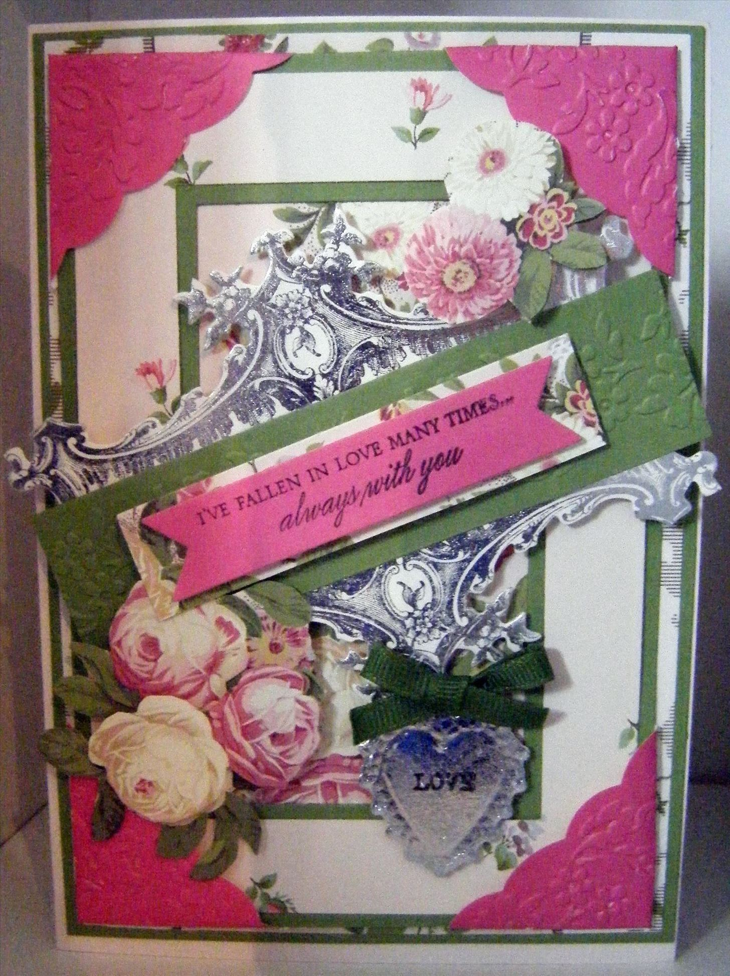 How to Make Vintage Showstopper Floral Frame Card