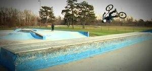 Do a flair on your BMX bike