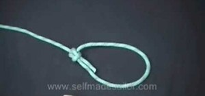Tie a bowline with a few ways of securing it