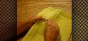 Do embroidery stitches on knitted fabric