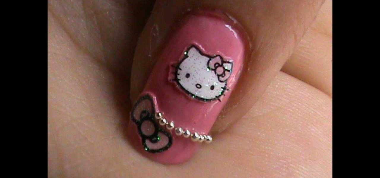 How to do hello kitty nail art design nails manicure do hello kitty nail art design prinsesfo Images