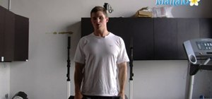 Do a lateral raise exercise routine with dumbbells