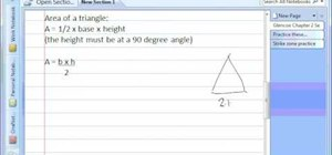 Find the area of triangles and other geometric shapes