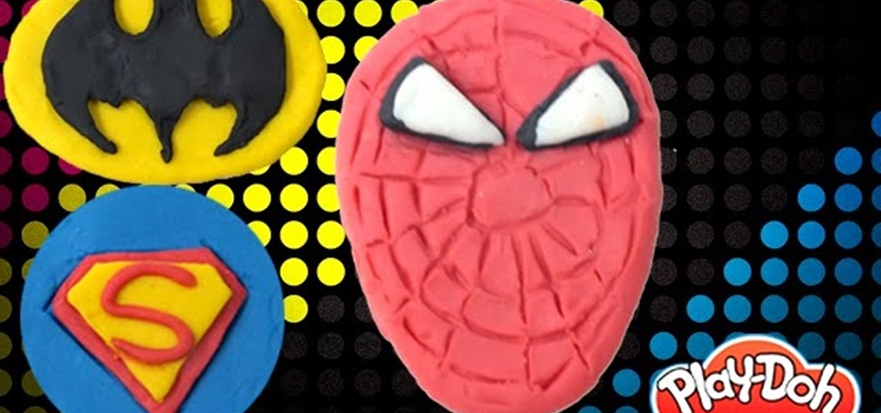 Make Batman, Spiderman, & Superman from Play-Doh