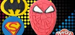 How to Make Batman, Spiderman, & Superman from Play-Doh